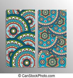 Vertical mandala ornament banner - Vertical banner decorated...