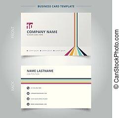 vertical, nom, business, lignes, créatif, arrière-plan., perspective, gabarit, horizontal, coloré, blanc, carte, salle