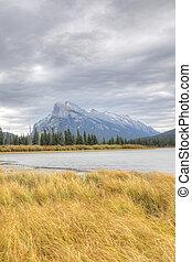 Vertical of Mount Rundle near Banff, Canada - A Vertical of...