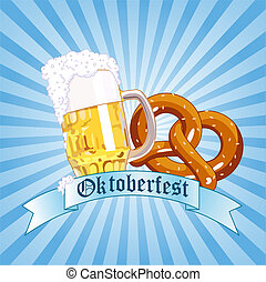 Vertical Oktoberfest Celebration Radial Background with Copy space.