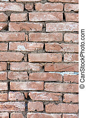 vertical old brick wall