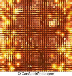 vertical, oro, puntos, mosaico, redondo