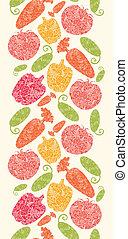 vertical, padrão, legumes, seamless, fundo, textured