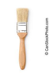 Vertical paintbrush, isolated on white
