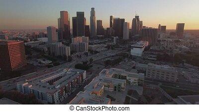 Vertical Pan Downtown LA