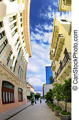 Vertical panorama of havana street, cuba - Vertical ...