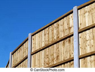 vertical, planche, barrière, panneau