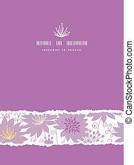 vertical, pourpre, modèle, déchiré, seamless, florals, fond, ombre