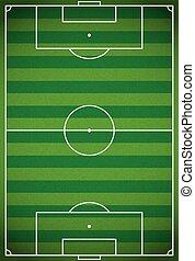 vertical, realista, fútbol, -, ilustración, campo, futbol