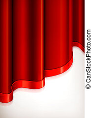 Vertical red invitation background, vector