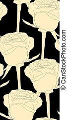 vertical, roses., seamless, fundo