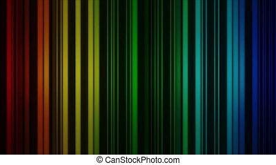 vertical, rotate., résumé, lignes, incandescent, render, coloré, 3d