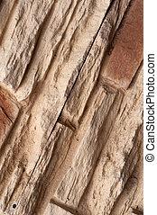 Vertical rough concrete wall brick background