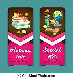 Vertical Sale Banners School Supplies