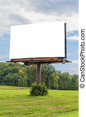Giant Blank Billboard With Copy Space