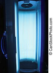 Vertical solarium - Opened vertical solarium for getting a ...