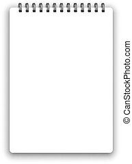 Vertical spiral notepad - Vertical realistic spiral notepad ...