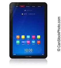 Vertical tablet PC