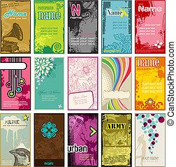 vertical, tarjetas comerciales