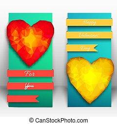 Vertical Valentine Banner Set