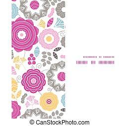 vertical, vibrante, quadro, scaterred, seamless, vetorial, padrão experiência, floral