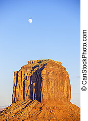 Monument Valley with moon