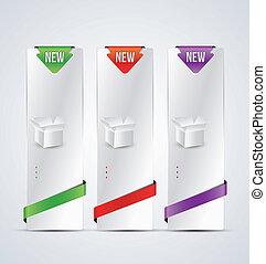 vertical web banner for product description