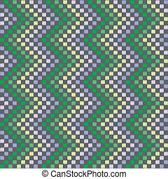 Vertical zigzag pattern in green color