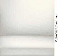 verticale, illuminato, stage., luminoso, vettore, pubblicità, sagoma, illustration.