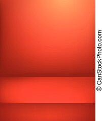 verticale, illustration., stage., vettore, pubblicità, sagoma, rosso, illuminato