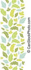 verticale, modello, foglie, seamless, silhouette, fondo