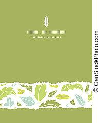 verticale, modello, foglie, strappato, seamless, silhouette, fondo