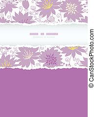 verticale, viola, modello, cornice, strappato, seamless, florals, fondo, uggia