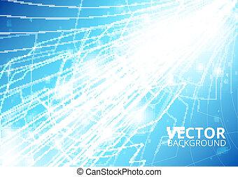 vertikal, fremtid, teknologi, abstrakt
