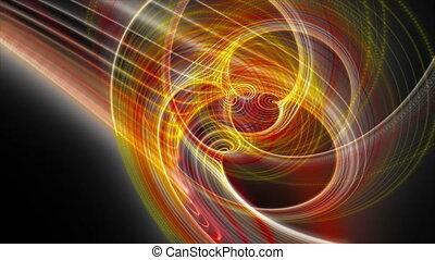 vertragen, deeltje, licht, voorwerp, futuristisch, shimmer, animatie, video, hd, motie, lus, streep