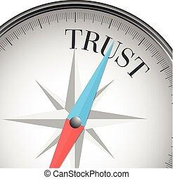 vertrauen, kompaß