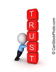 vertrouwen, concept.