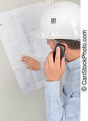 vervaardiging, architect, belangrijk, roepen