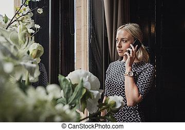 vervaardiging, belangrijk, roepen, telefoon