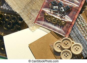 vervaardiging, crafting, kaart, items
