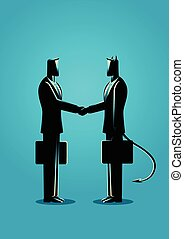 vervaardiging, duivel, delen, zakenman