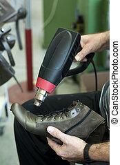 vervaardiging, met de hand gemaakt, schoeisel