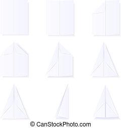 vervaardiging, papieren vliegtuig