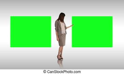 vervaardiging, presentatie, businesswoman