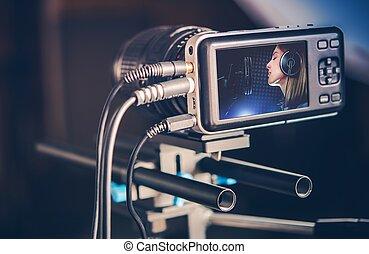 vervaardiging, video, muziek