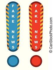 vervalsing, nieuws, gevaartekens