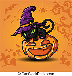 vervelend, halloween, black , heksen, kat