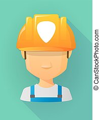 vervelend, helm, plectrum, arbeider, veiligheid, avatar, mannelijke