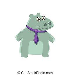 vervelend, nijlpaard, hals band