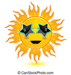 vervelend, zon, abstract, goggles